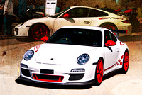 White Porsche GT3RS Front View