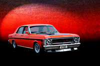 Red XW Ford Falcon GTHO