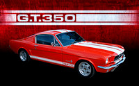 Red 1966 Mustang GT350